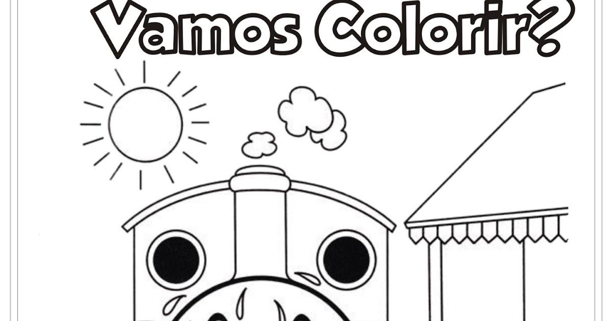 Ideia Criativa Lindas Imagens: Desenho Para Colorir Thomas
