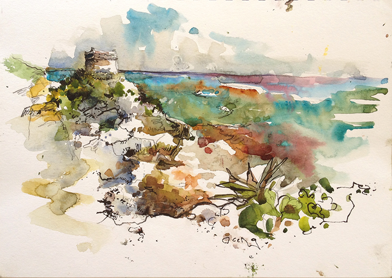 Travels in the Yucatan Peninsula: Mayan Ruins | Urban Sketchers