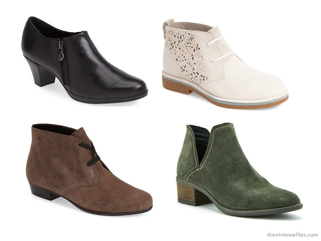 booties in 4 different colors
