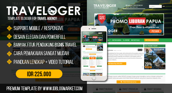 TEMPLATE BLOGGER TRAVEL AGENCY