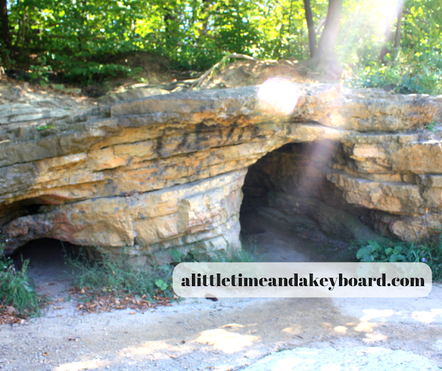 Little dolomite cave at Red Oak Nature Center in Batavia, Illinois
