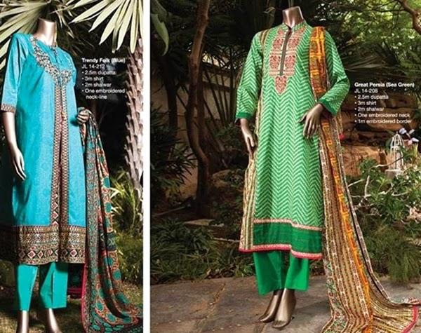 Junaid Jamshed- Eid ul azha Suits for girls