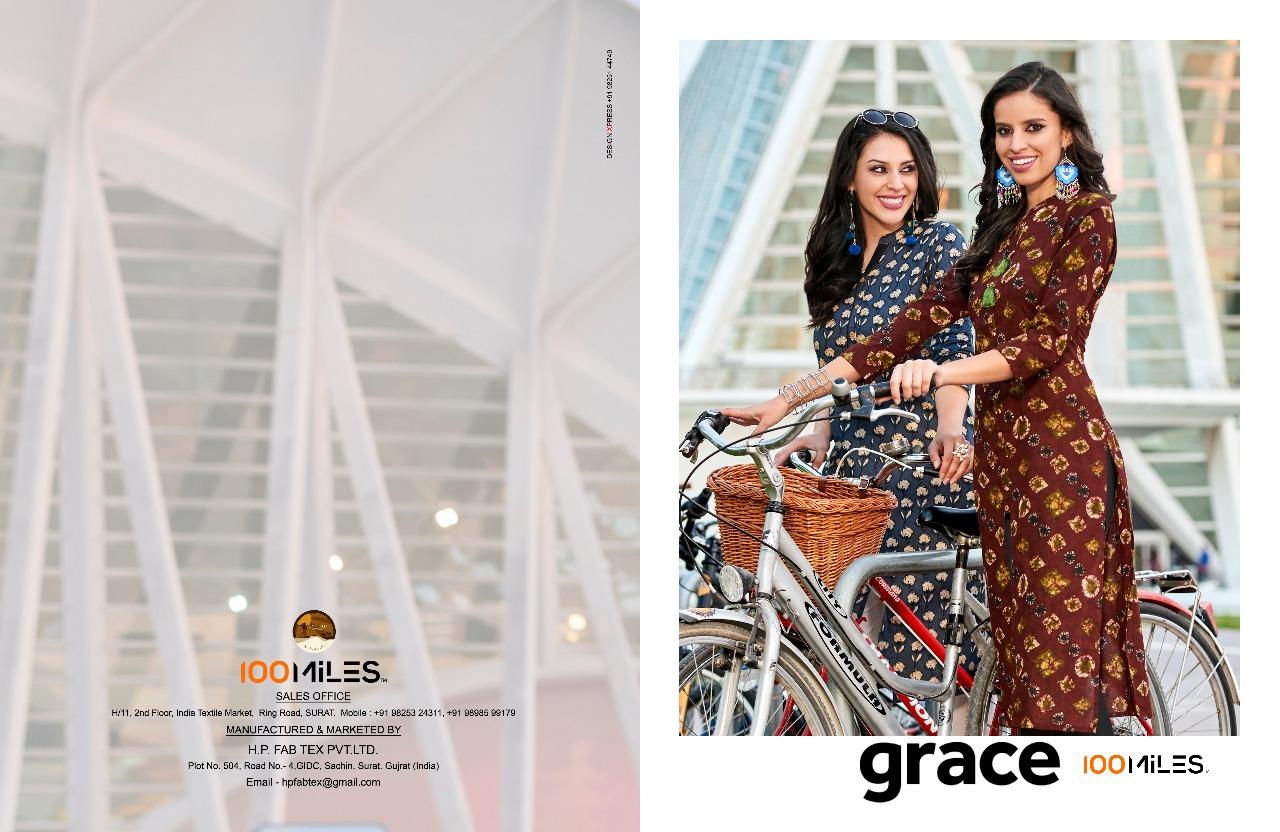 Grace-100 MILES- New Arrival Cotton Designer Kurti