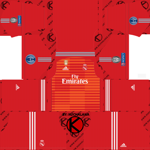 1f12d228b7d Real Madrid 2018 19 Kit - Dream League Soccer Kits - Kuchalana