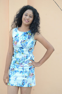 Actress Priyankha Stills in Floral Short Dress at Golmal Gullu Movie Pressmeet 0196.JPG