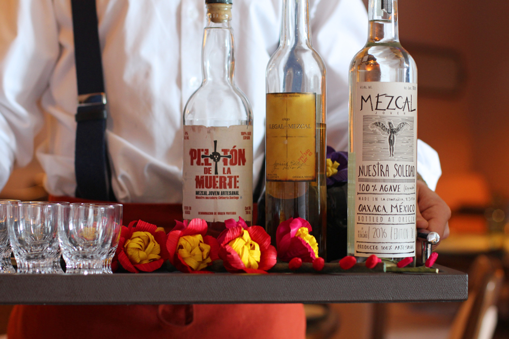 Mezcal at Mexican Restaurant Ella Canta at Park Lane Intercontinental, London - UK lifestyle blog