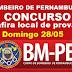 Inscritos no Concurso de Bombeiros de Pernambuco, confira local de provas que será domingo 28