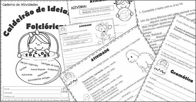 Caderno de Atividades Caldeirão de Ideias Folclóricas Segundo Ciclo Fundamental I
