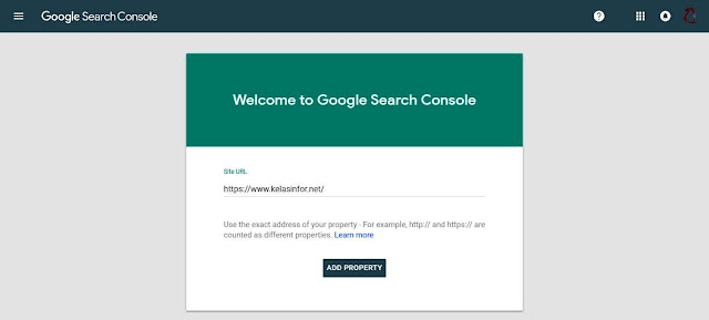 Kelas Informatika - Add Property Google Search Console