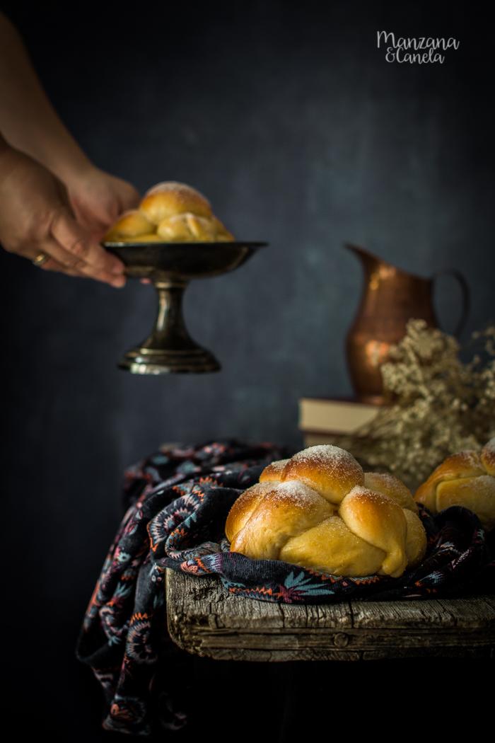 Pan de Muerto. Receta mejicana para el Día de Muertos.