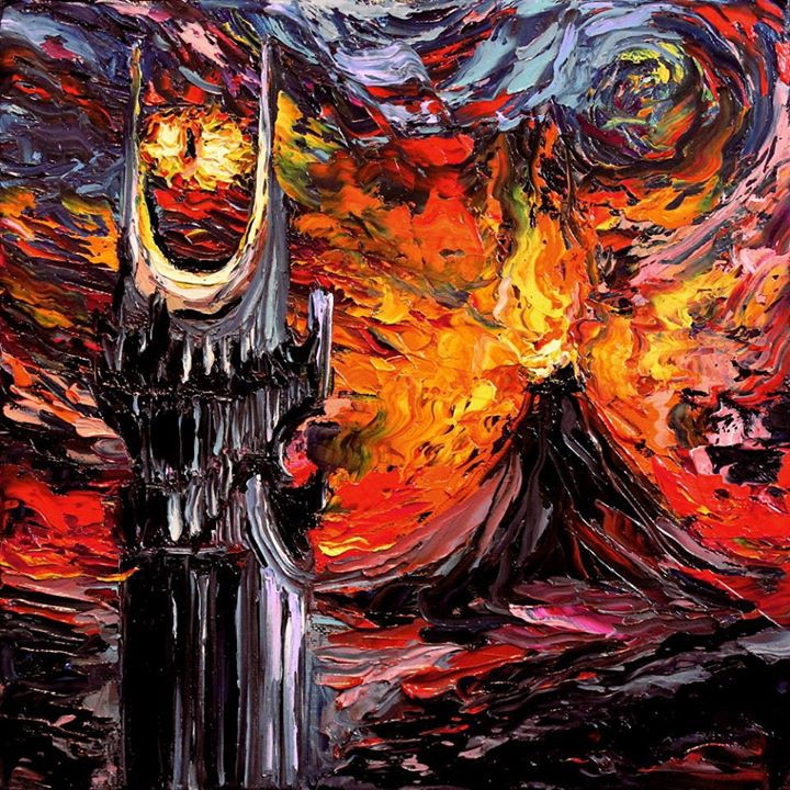 07-Lord-of-the-Rings-The-Eye-of-Sauron-Aja-Trier-Vincent-Van-Gogh-Paintings-and-a-Sprinkle-of-Pop-Culture-www-designstack-co