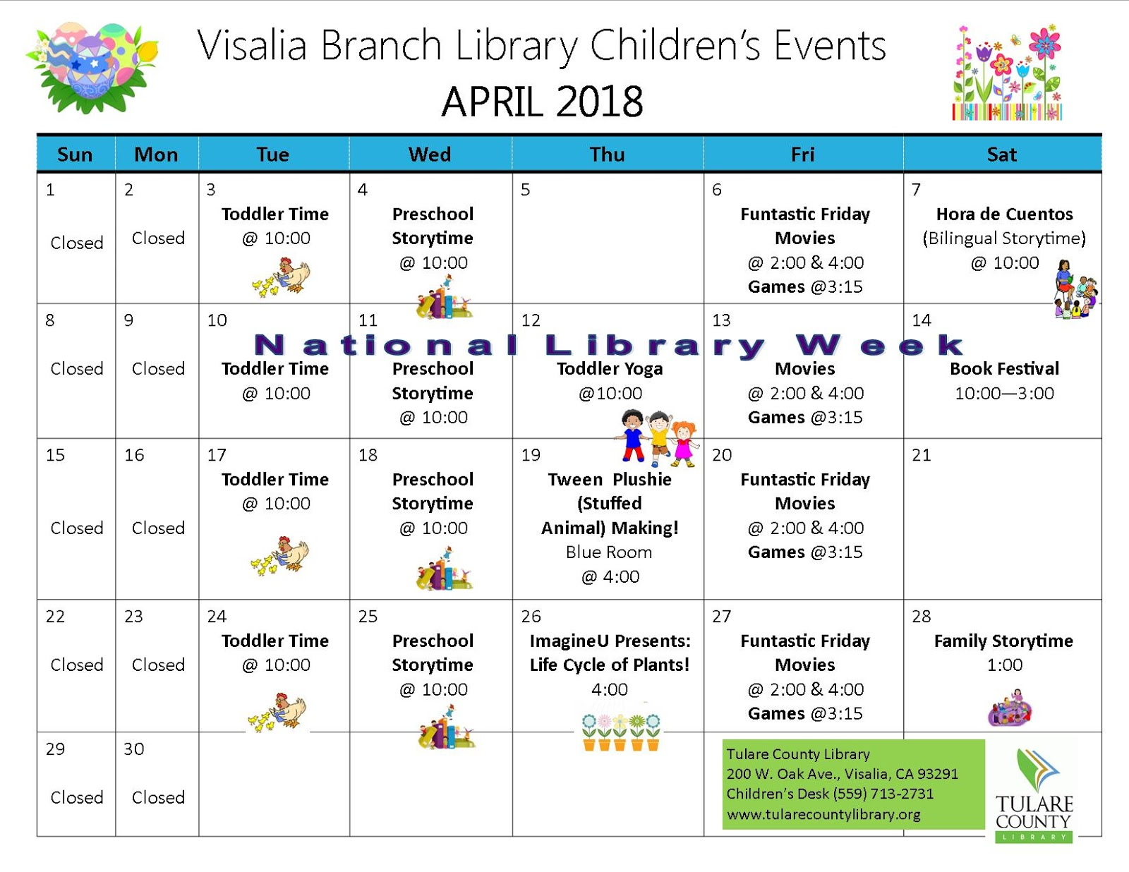 tulare county library news and events