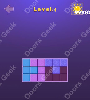 Cheats, Solutions, Walkthrough for Move Blocks Easy Level 4