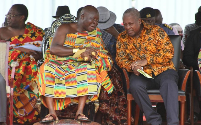 Otumfuo says I've 'done a lot for Ashanti' - Mahama