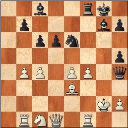 Lyon 1955: Partida de ajedrez , posición después de 23.dxe4?