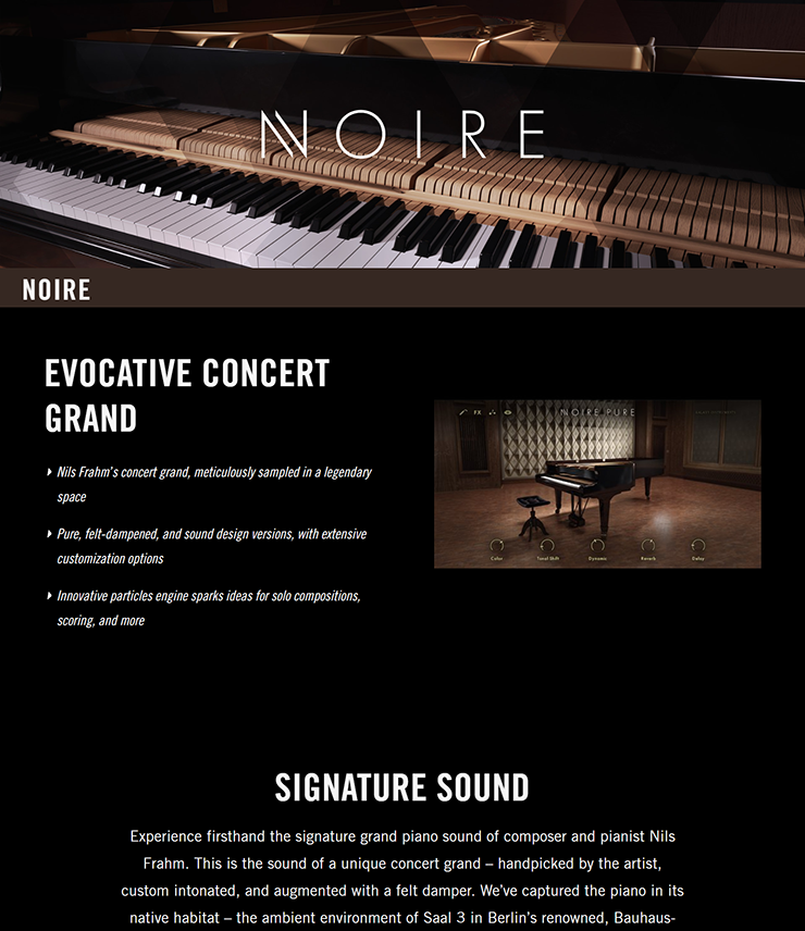 NATIVE INSTRUMENTS - Noire 1 1 0 [KONTAKT LIBRARY] [WIN/MAC