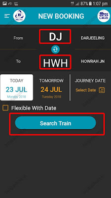 how to book train ticket from your mobile