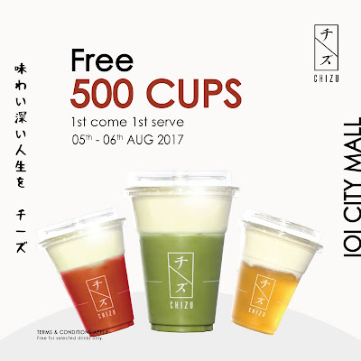 Free Chizu Drink Giveaway Promo IOI City Mall