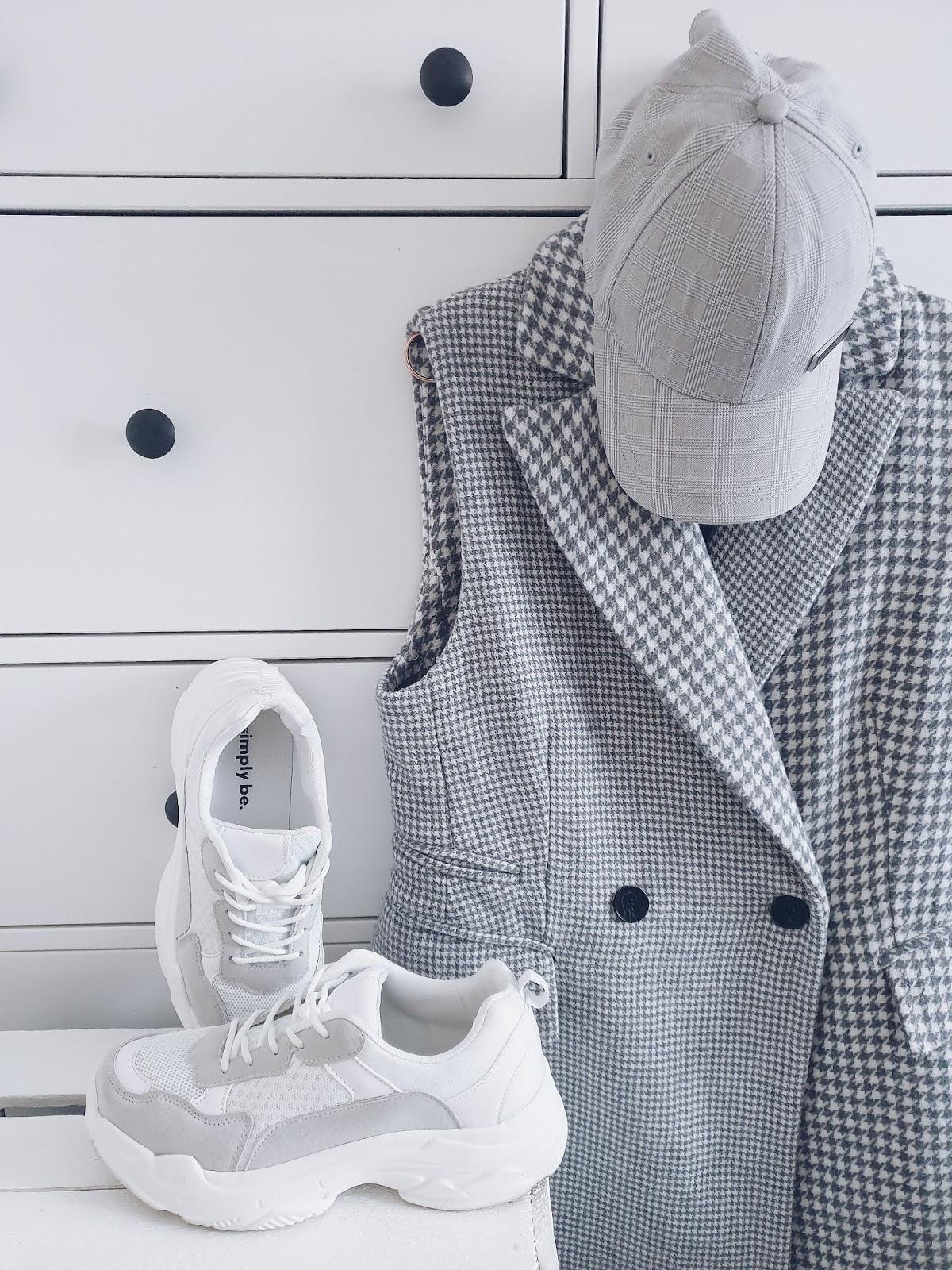 White & grey spring #lotd czyli ugly shoes, biel i szarości