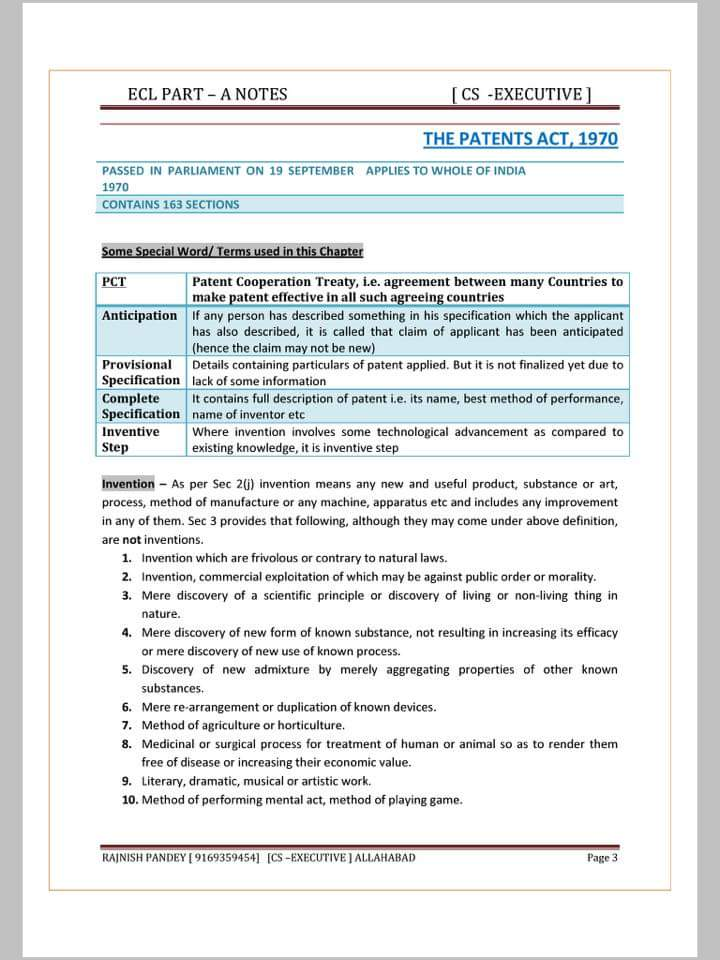 Cs Executive Notes Pdf