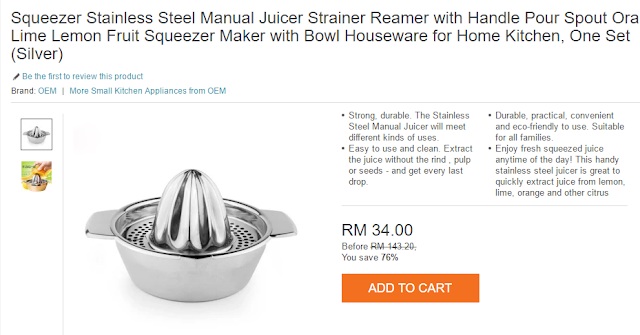 Squeezer Stainless Steel Manual Juicer,beli  Squeezer Stainless Steel Manual Juicer.lazada malaysia