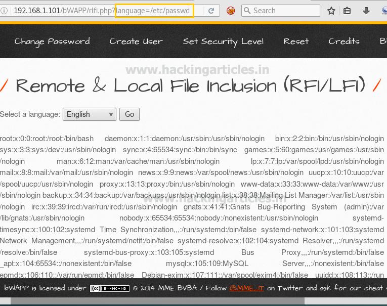 Dvwa File Inclusion