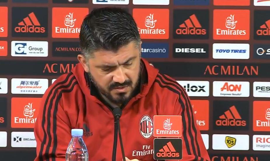 La conferenza stampa di Rino Gattuso pre Cagliari Milan