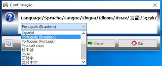 Xpadder passo 1.3: Escolha a língua desejada para o programa