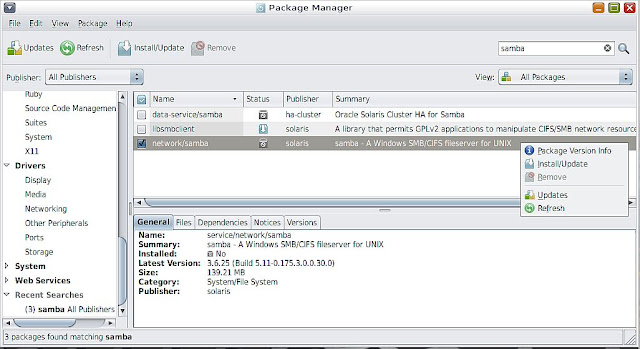 Supratim Sanyal's Blog: Solaris 11 Samba SMB/CIFS File Server Package