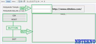 Menentukan Jumlah Hari Pada Bulan Bukan Kabisat dan Kabisat Menggunakan Java NetBeans NBTEKNO.COM