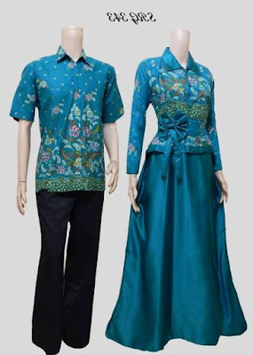 Model baju batik muslim couple pesta