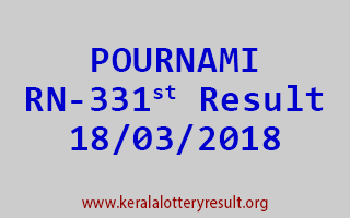 POURNAMI Lottery RN 331 Results 18-03-2018