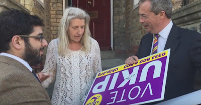 Raheem Kassam and Nigel Farage during 2015 General Election in South Thanet