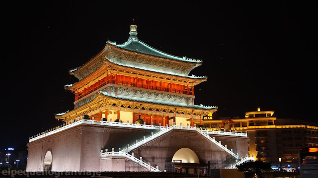 torre, campana, xian, ciudad