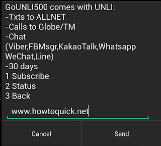 Globe GOUNLI500 Promo with 30 days UNLI ALLNET texts