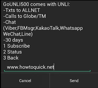 Globe GOUNLI500 Promo with 30 days UNLI ALLNET texts
