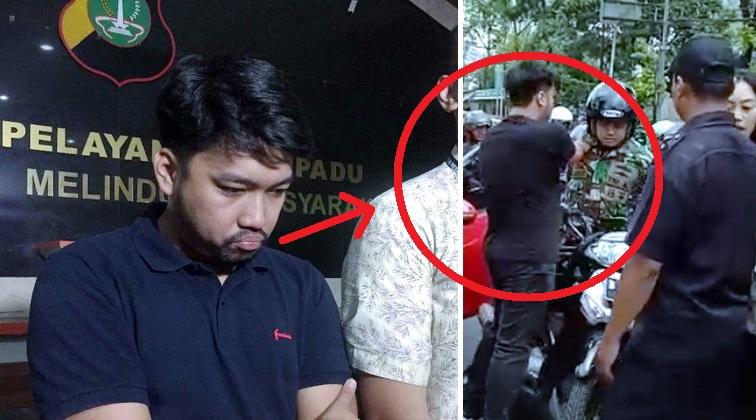 Pemuda Ini Jotosi TNI Yang Menegurnya, Setelah Dibawa Ke Polisi Langsung Damai, Ternyata Dia..