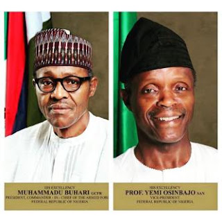 President Buhari and Vice President, Yemi Osinbajo