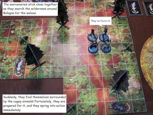 Nova Aetas board game painted play through hunt mission 0.3 Wolves