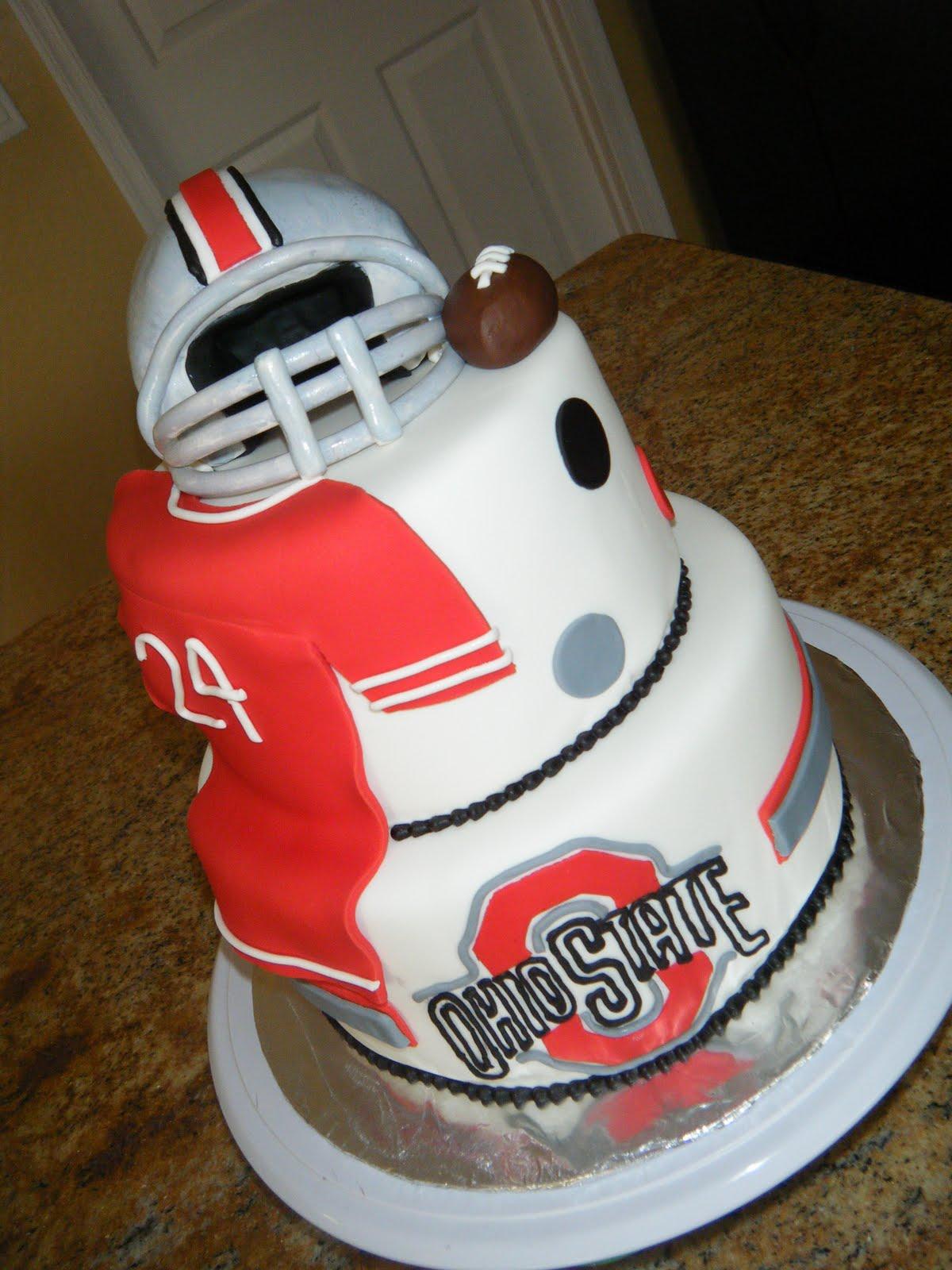 Cassy S Cakes Ohio State Football Cake