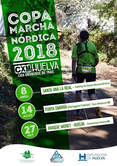 CLASIFICACIÓN COPA DE HUELVA DE MARCHA NORDICA 2018