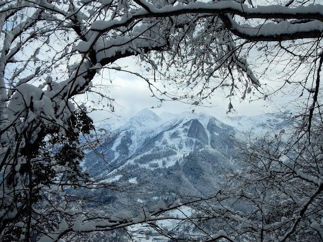 Хребет Аибга, Красная поляна зимой