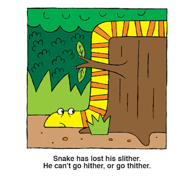 Snake has lost his slither