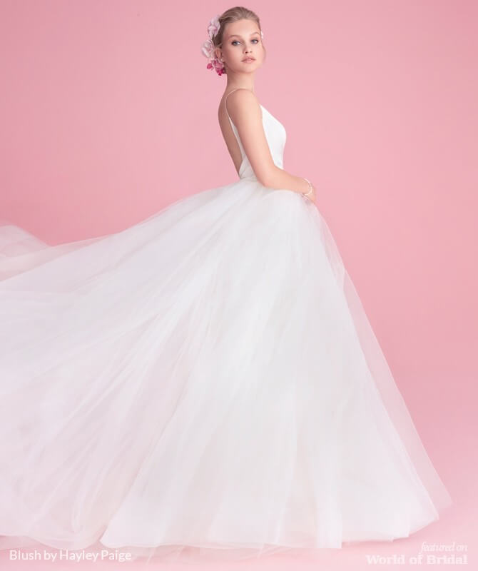 486d6b29643b6 Blush by Hayley Paige Fall 2018 Bridal Collection - World of Bridal