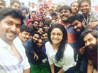 Keerthy Suresh with Naani 1 Year for Nenu Local