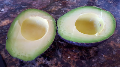 Two halves of Avocado