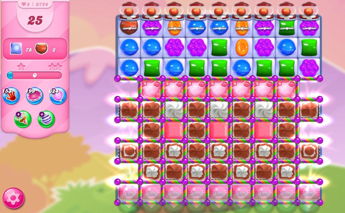 Candy Crush Saga level 6724