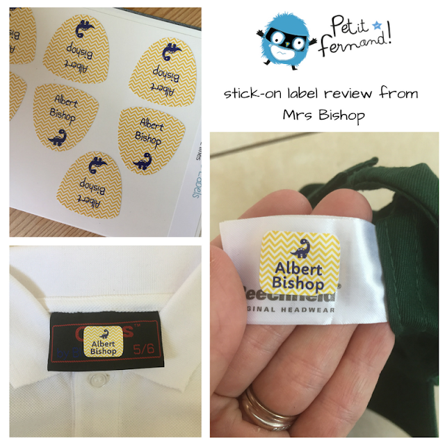 Petit Fernand stick on clothing labels review from Mrs Bishop
