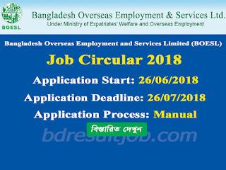 BOESL Job Circular 2018