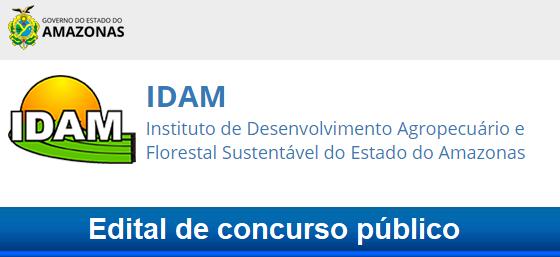 concurso IDAM AM 2018: Apostila, Edital e inscrição